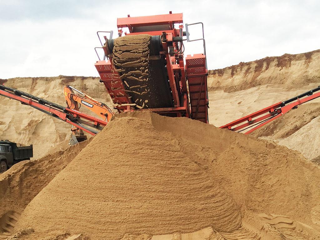 намывание песка