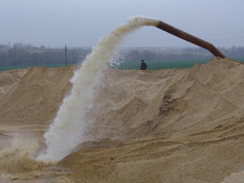 гидронамывной песок